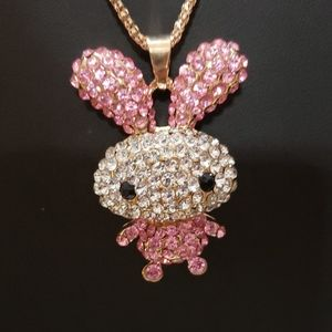 NWT Baby bunny crystal necklace by Betsey Johnson